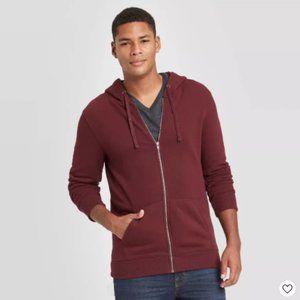 Men's Regular Fit Full Zip Fleece Hoodie - Small